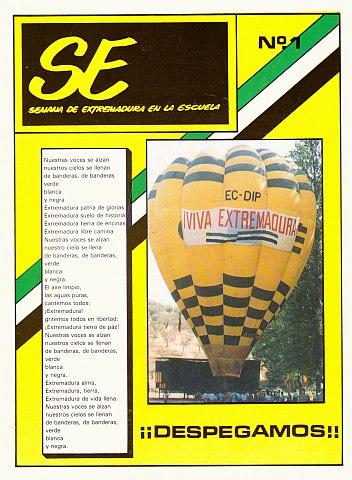 REVISTA DE LA SEMANA DE EXTREMADURA EN LA ESCUELA (SE) Nº 1/1985