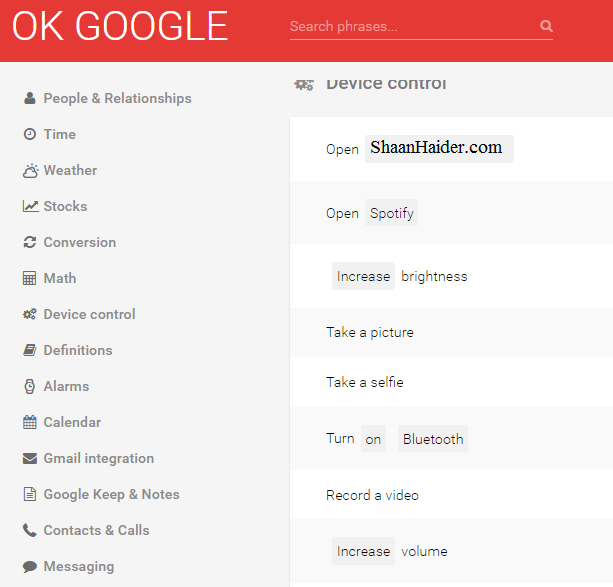 "List of All Google Now and ""Ok Google"" Voice Commands"
