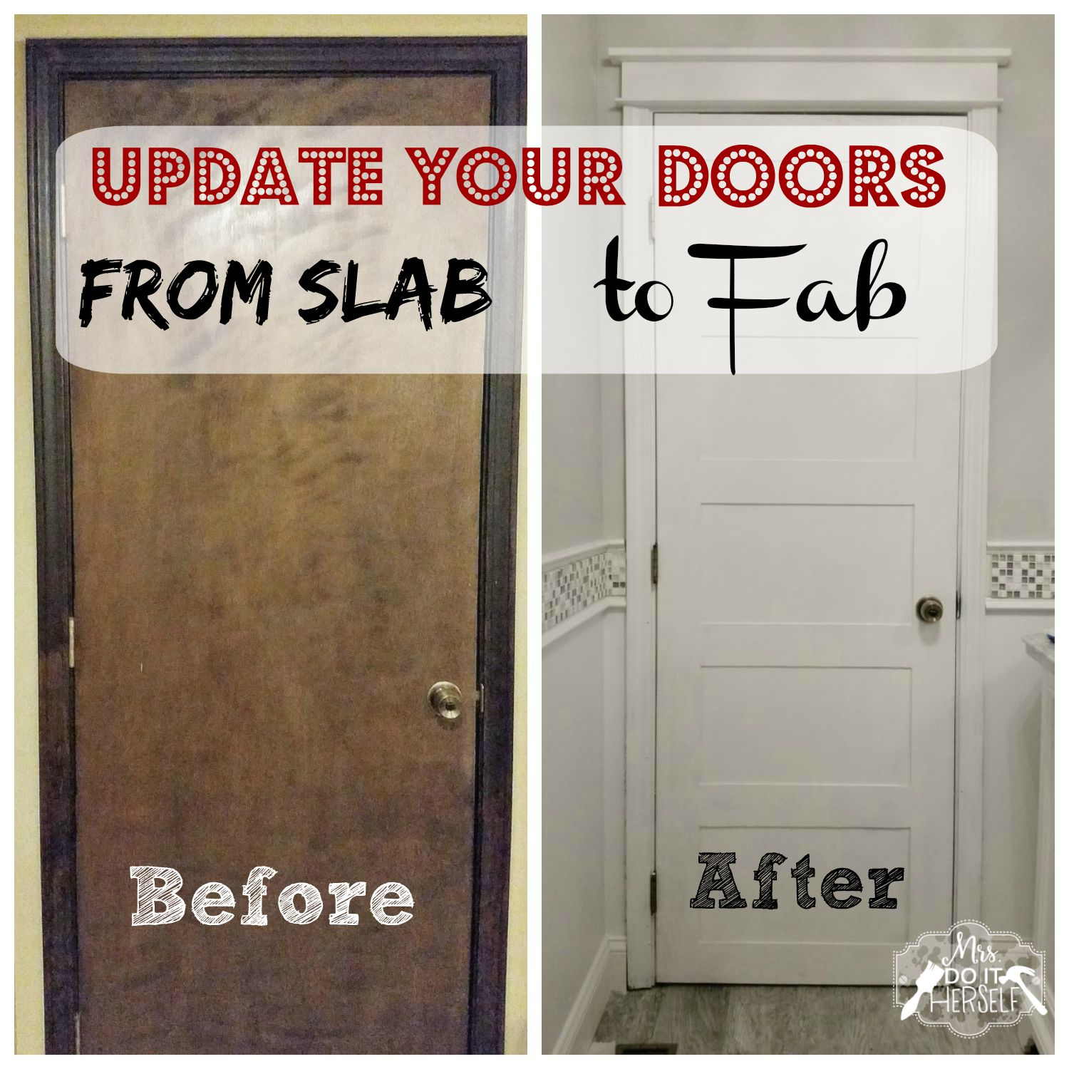 From Slab to Fab u2013 DIY 5 Panel Door & From Slab to Fab - DIY 5 Panel Door - Mrs. Do It Herself