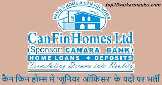 Can Fin Homes Recruitment 2019