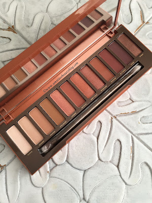 Urban Decay Naked Heat Palette swatches on dark skin
