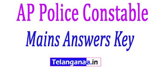AP Police Constable Mains Answers Key 2018 APSLPRB Constable Answers Key Download