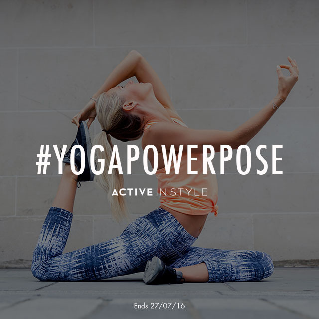 #YOGAPOWERPOSE {Active in Style Yoga Competition} // 76sunflowers