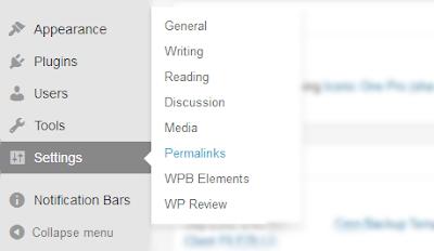 Cara Mengatur Permalinks Atau Url Posting Pada Blog Wordpress