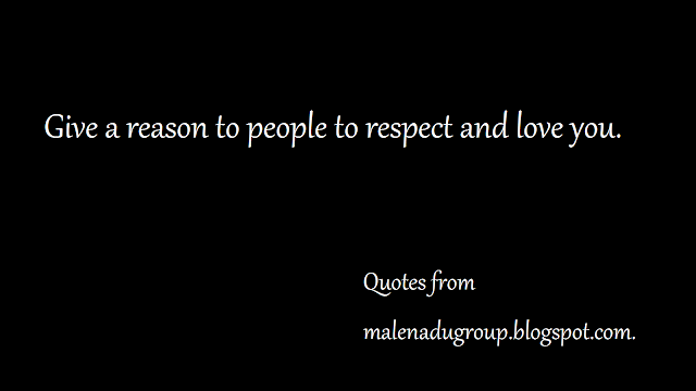thoughts on respect an love