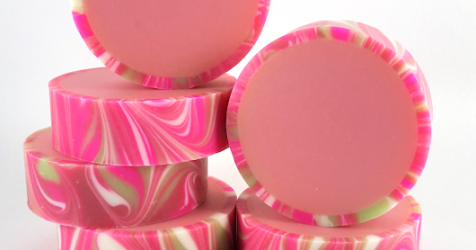 Japanese Cherry Blossom Rimmed Soap