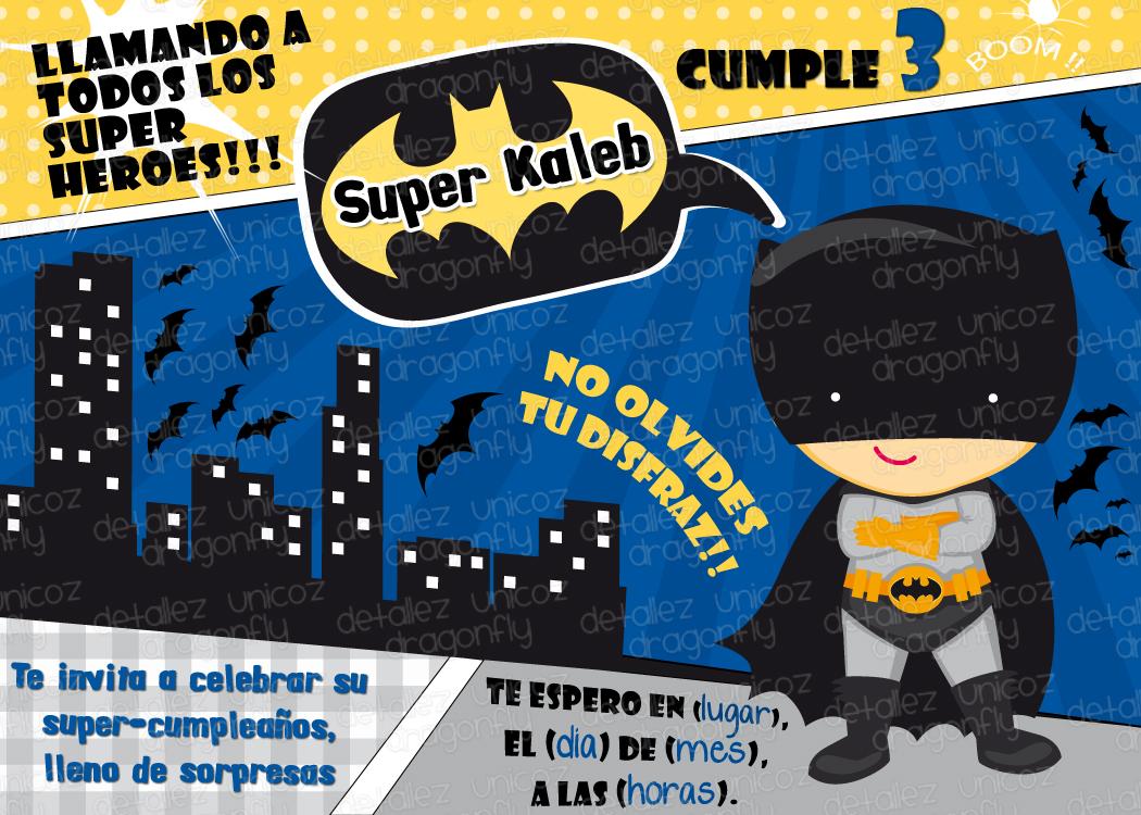 Invitación De Super Heroes