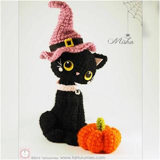 patron amigurumi Gatita Misha Halloween tarturumies