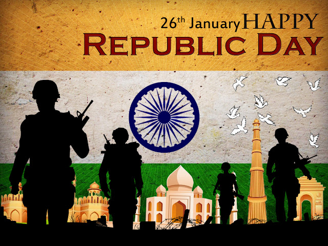 Republic Day 2017 Greeting cards Ecards Clipart