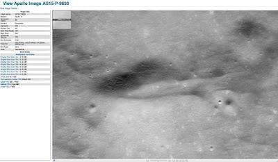 Foto AS15-P-9630 ad alta risoluzione scattata dall'Apollo 15