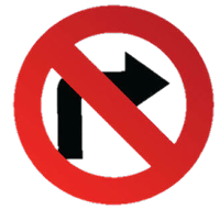 No Right Drive Symbol