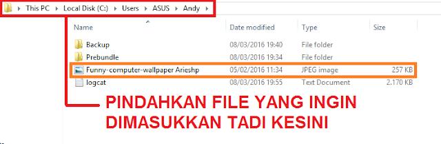 Cara memasukkan file ke Andyroid 2