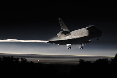 Space Shuttle Atlantis makes its last landing at the Kennedy Space Center at Cape Canaveral, Florida, July 21, 2011