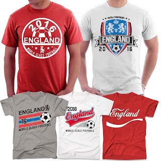 Offer T-shirt £8.95 Euro 2016 England Football T-Shirts, Limited quantity available
