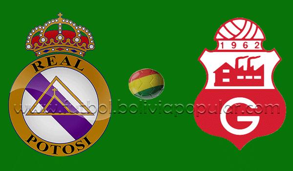 Real Potosí vs. Guabirá - En Vivo - Online - Final Grupo Perdedores - Torneo Apertura 2018