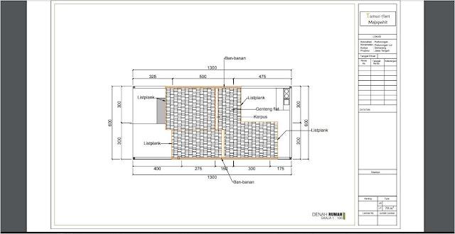 Contoh Desain Denah Rumah Sederhana 2 Lantai