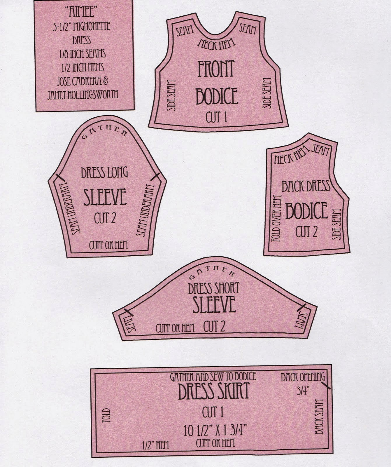 Snickerdoodle Street Doll Clothing Patterns