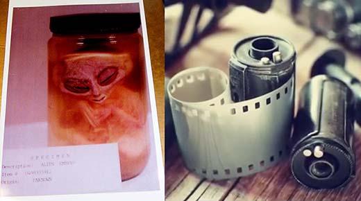 Cámara perdida de un oficial militar revela una imagen de un embrión extraterrestre
