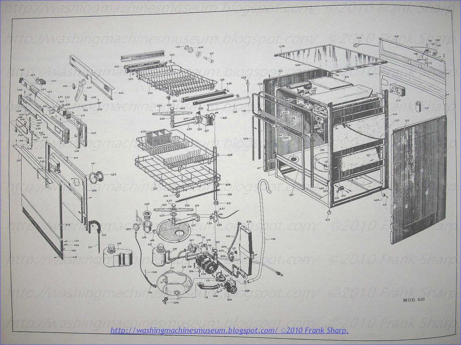 washer rama museum riber mod tris 14 dishwasher timer. Black Bedroom Furniture Sets. Home Design Ideas