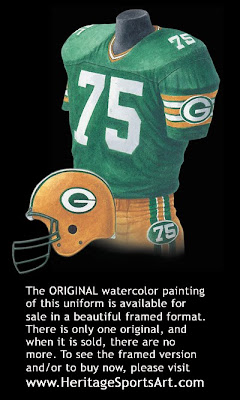 Green Bay Packers 1984 uniform