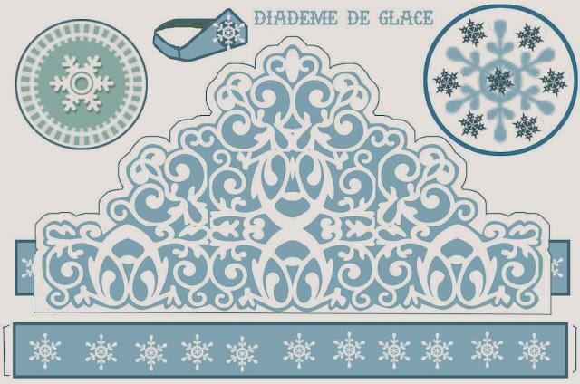 Snow Princess Free Printable Crown.