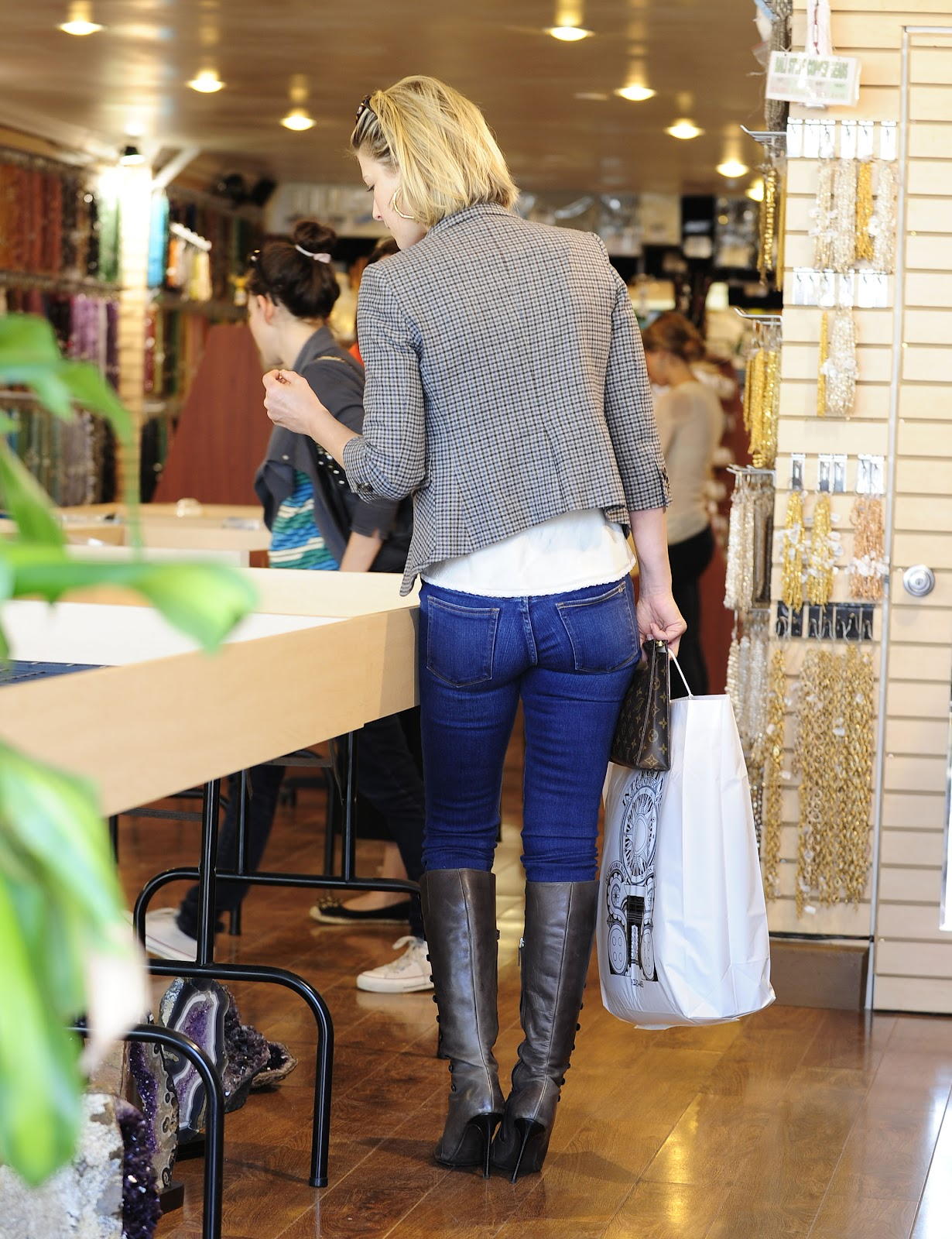 Celebrities In Jeans Boots Overknees Mix Part