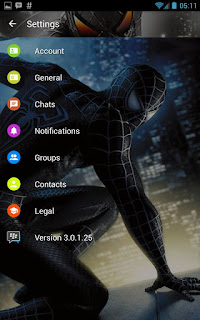 BBM MOD Spiderman Black Transparan v3.0.1.25 APK