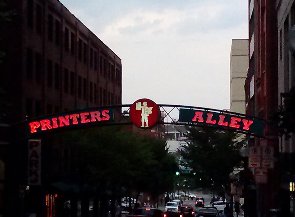 Nashville's Printers Alley 2014