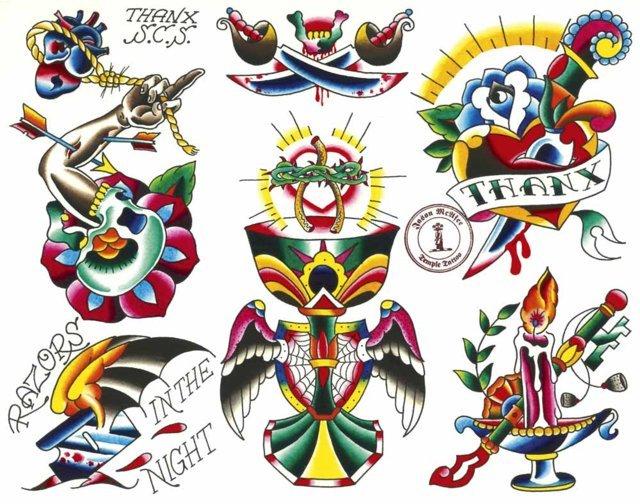 Tatuajes tradicionales diseños
