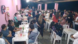 Prefeito Olivânio e vice Lucas jantam com amigos e apoiadores no 'sítio casa de pedra'