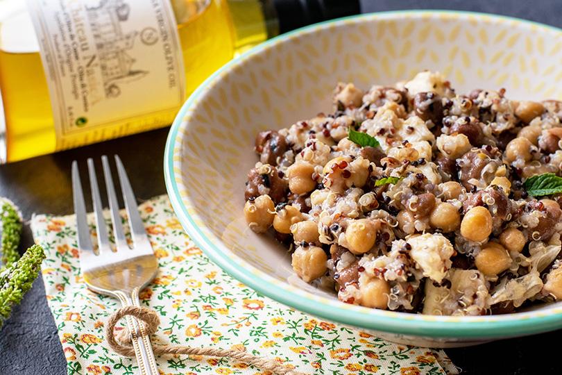 recette Salade quinoa pois et fèves