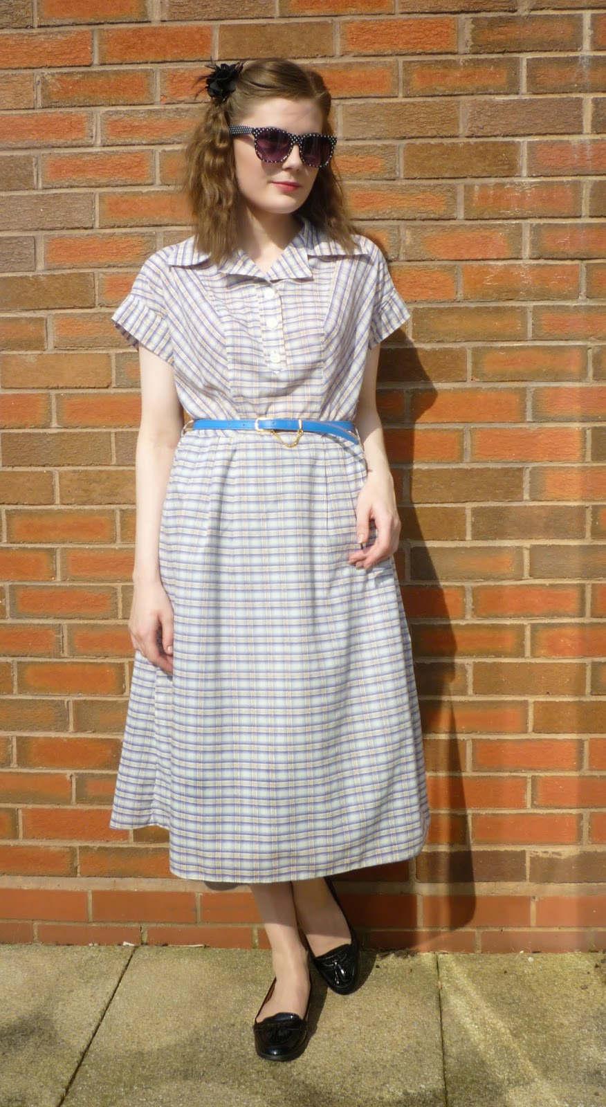 Shop my stuff: 1980s blue checked summer dress