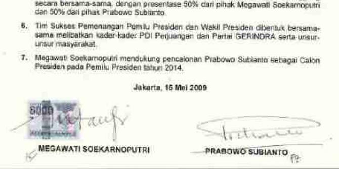 Sindir Perjanjian Batu Tulis, Pengamat: Prabowo Antar Jokowi Jadi Gubernur DKI, Mega Malah Khianati