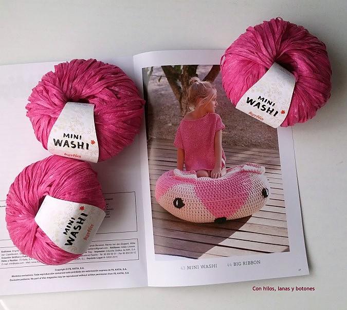 Con hilos, lanas y botones: Jersey Mini Washi con margaritas bordadas