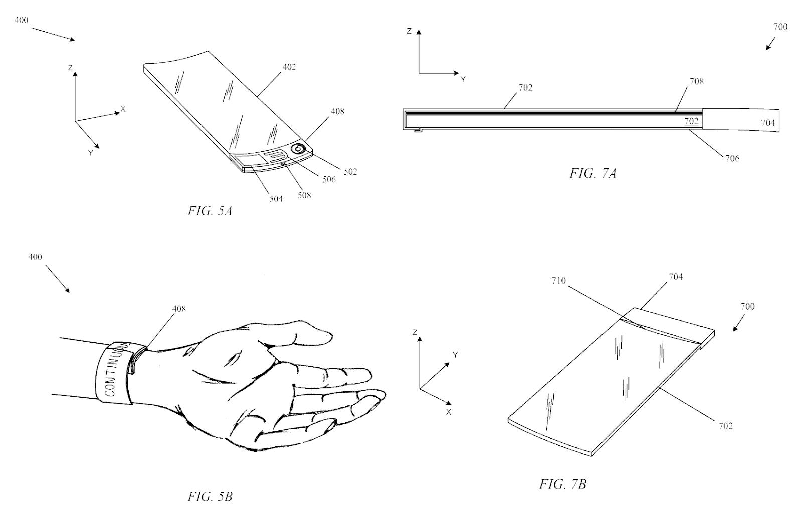 BI-STABLE SPRING WITH FLEXIBLE DISPLAY via United States Patent Application:0130044215