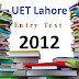 [pdf] UET lahore Entry Test Past Paper year 2012 free Download
