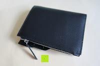 Reißverschluss: bupell Flache Portemonnaie mit herausnehmbarem Ausweisfach - Aus echtem Leder - Seitlichem Münzfach mit Reißverschluss - Schwarz