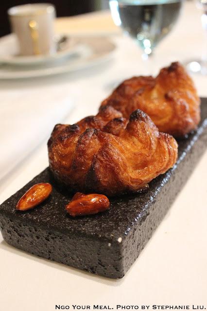 Complimentary Fresh Pastries (Kouign Amann) at Le Cinq