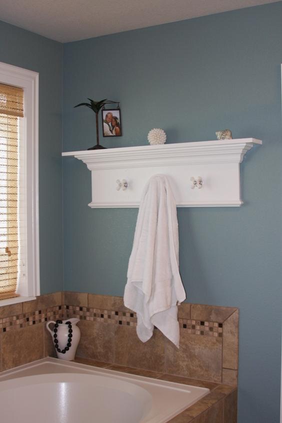 Assimpleasicanbe Custom Bathroom Shelf Towel Rack