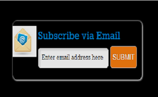 Stylish Email Subscription Form Widget For Bloggers