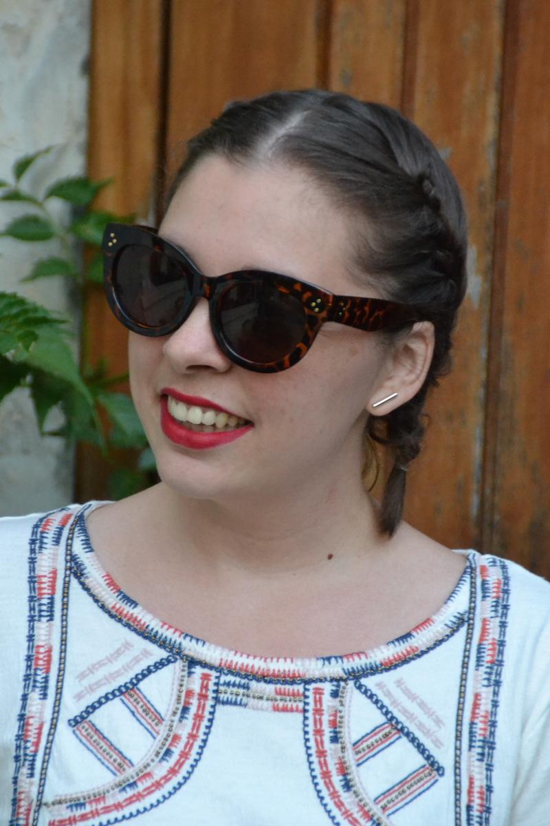 lunette de soleil Aliexpress, coiffure tresses plaquéesJPG
