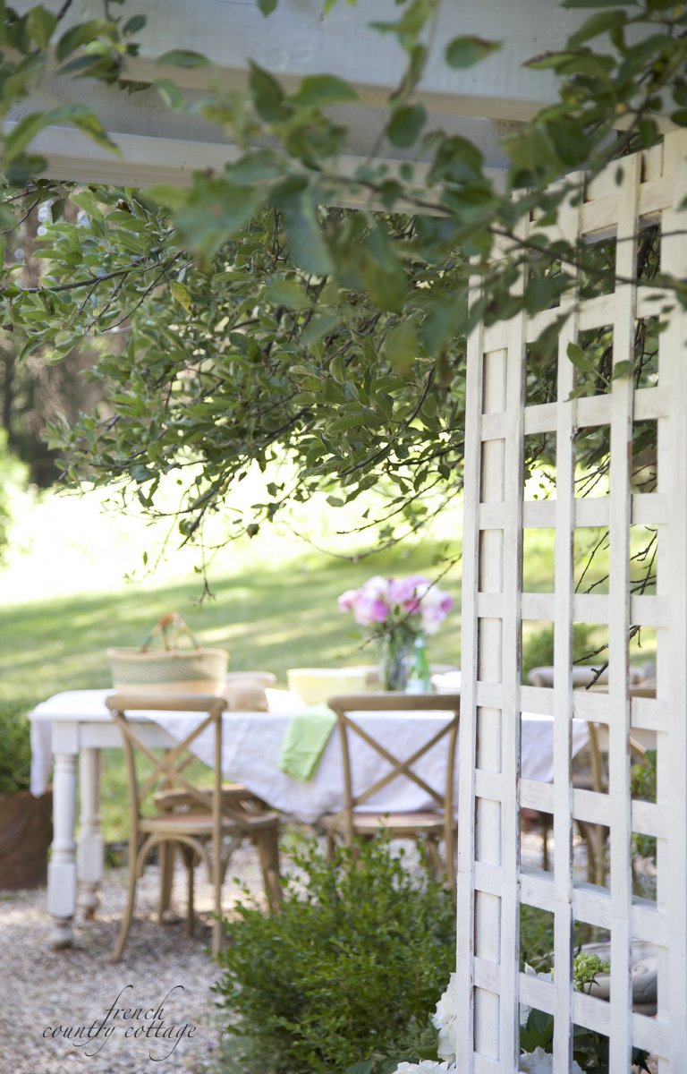Cottage Garden Arbor French Country