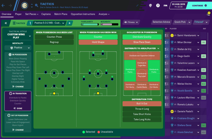FM20 Inter Tactic In Transition