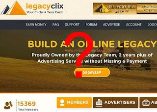 LegacyClix - Płatne oglądanie reklam - PTC / Bux - opinie, uwagi, opis