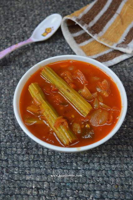 Tomato Drumstick Gravy Recipe| Thakkali Murungakai Kuzhambu