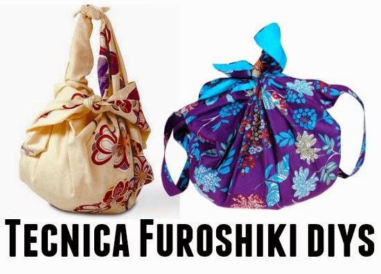 bolsos con telas tecnica de ruroshiki