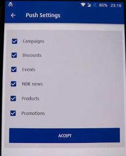 NBK notifications options