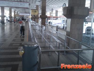 Lengthy bus berth of old Serangoon interchange