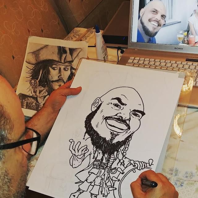 Desenhista Marcelo Lopes de Lopes o cliente pirata