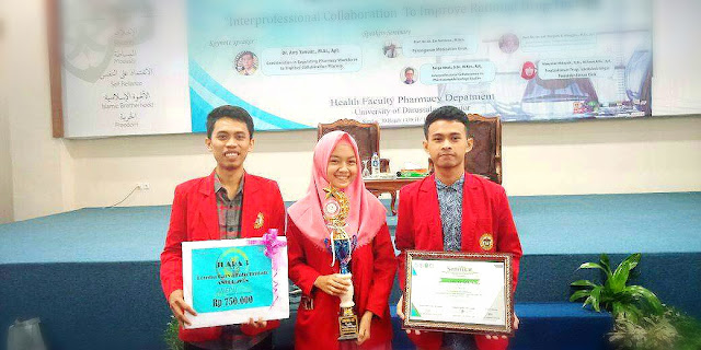 Mahasiswa Farmasi Unhas Raih Juara 3 di ajang Ash- Syahidah National Event of Pharmacy 2018 di Universitas Darussalam Gontor